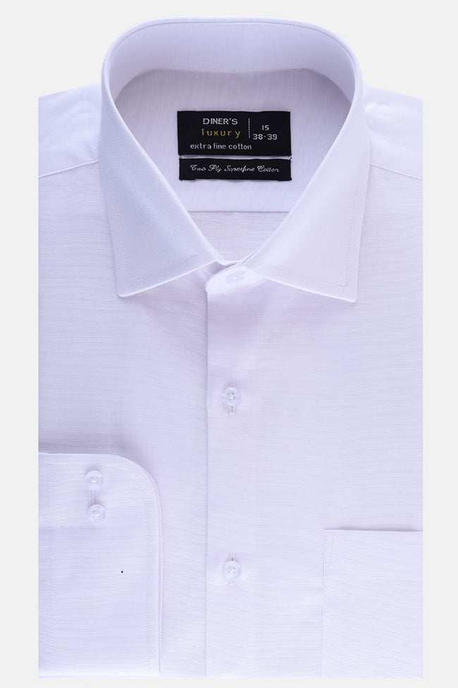 Formal Plain Shirt in WHITE SKU: AD19992-WHITE