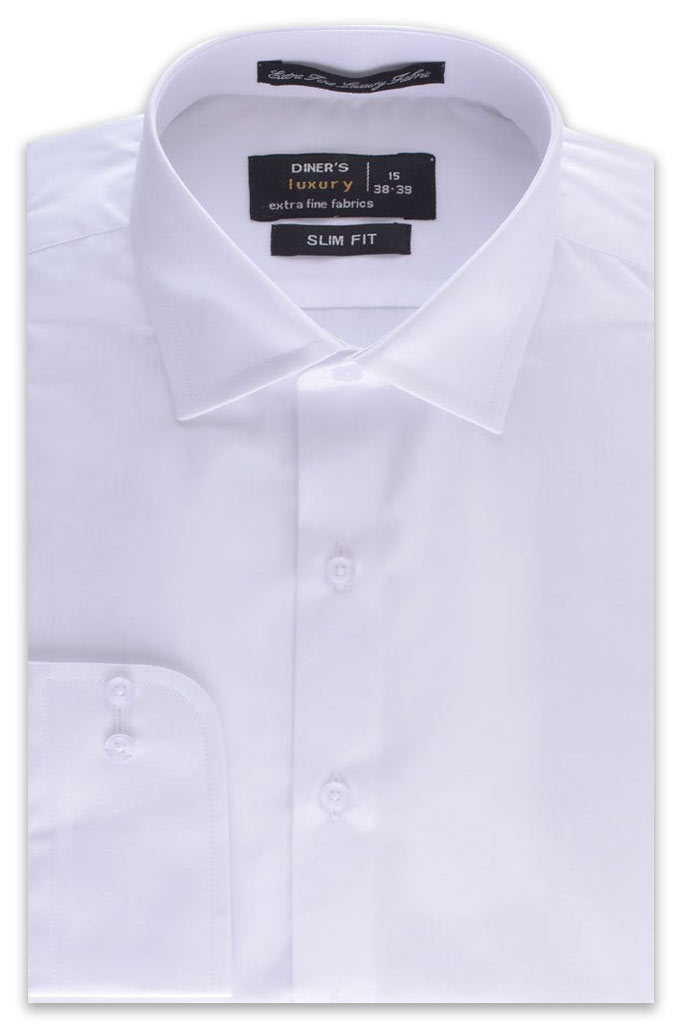 Formal Man Shirt in WHITE SKU: AD19996-WHITE - Diners