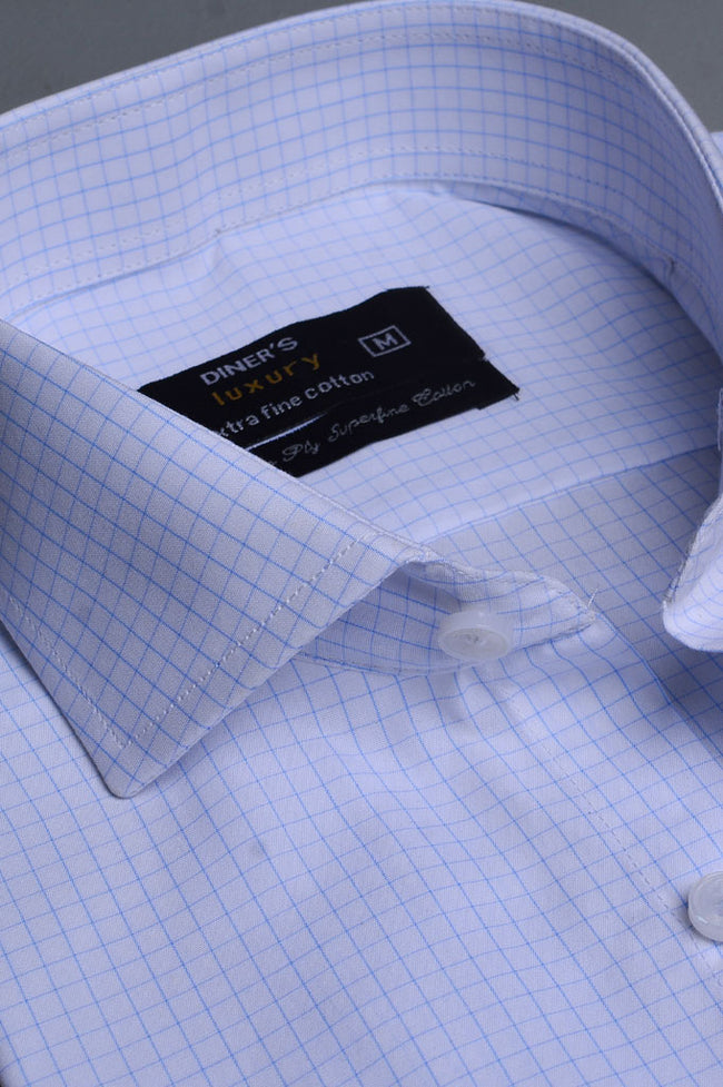 Formal Shirt In White SKU: AD20050- White