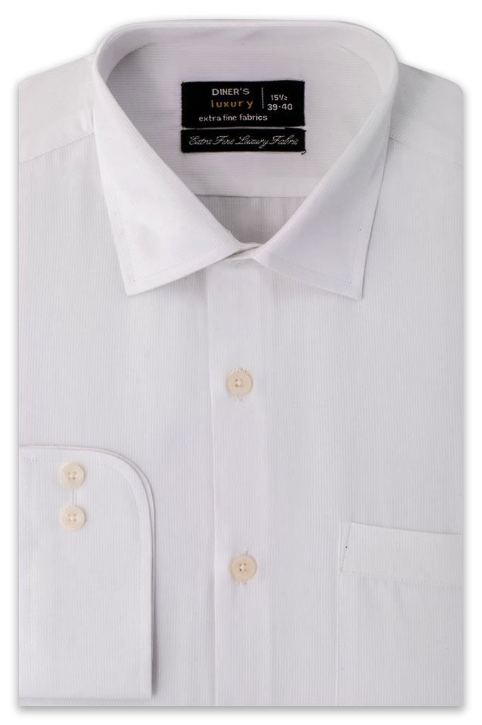 Formal Shirt In White SKU: AD20087-White - Diners