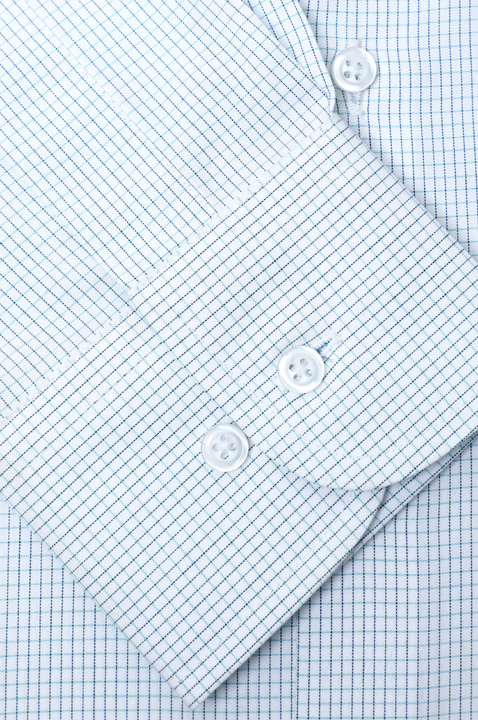 Formal Check Shirt in White SKU: AD20147-WHITE