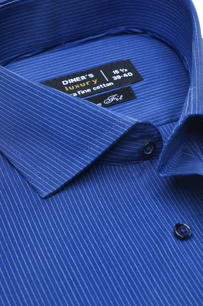 Formal Luxury Shirt SKU: AD20165-Blue - Diners