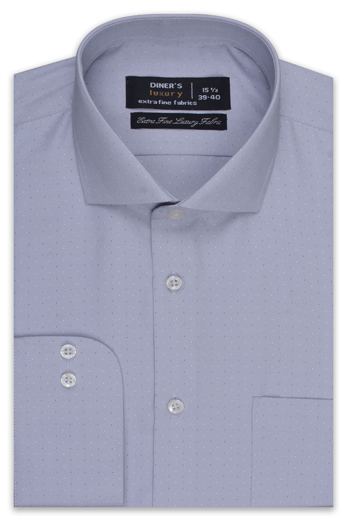 Formal Luxury Shirt SKU: AD20227-L-Grey - Diners