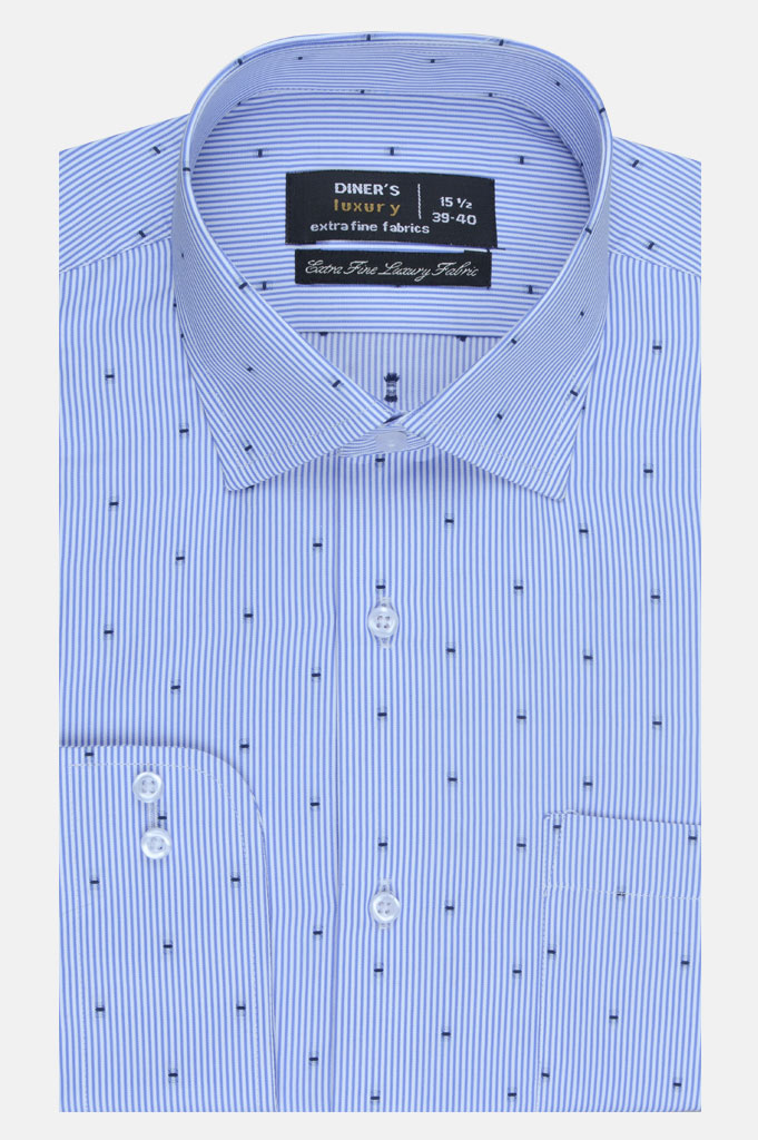 Formal Luxury Shirt SKU: AD20232-Blue