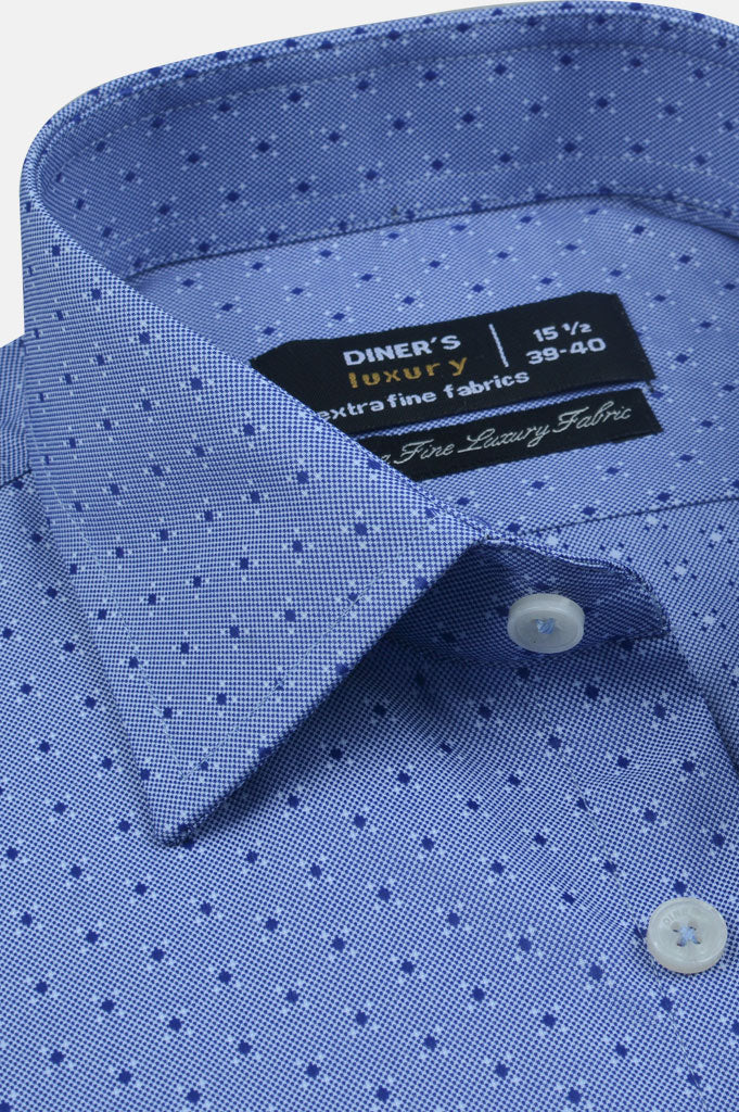 Formal Luxury Shirt SKU: AD20240-Blue - Diners