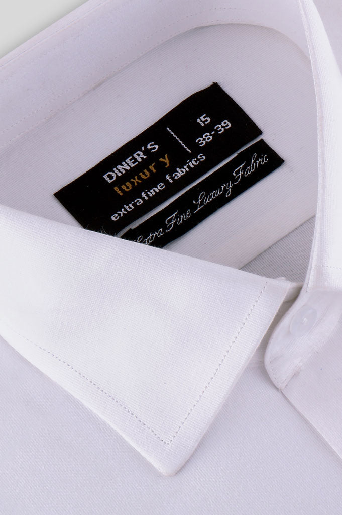 Formal Man Shirt SKU: AD20273-White - Diners