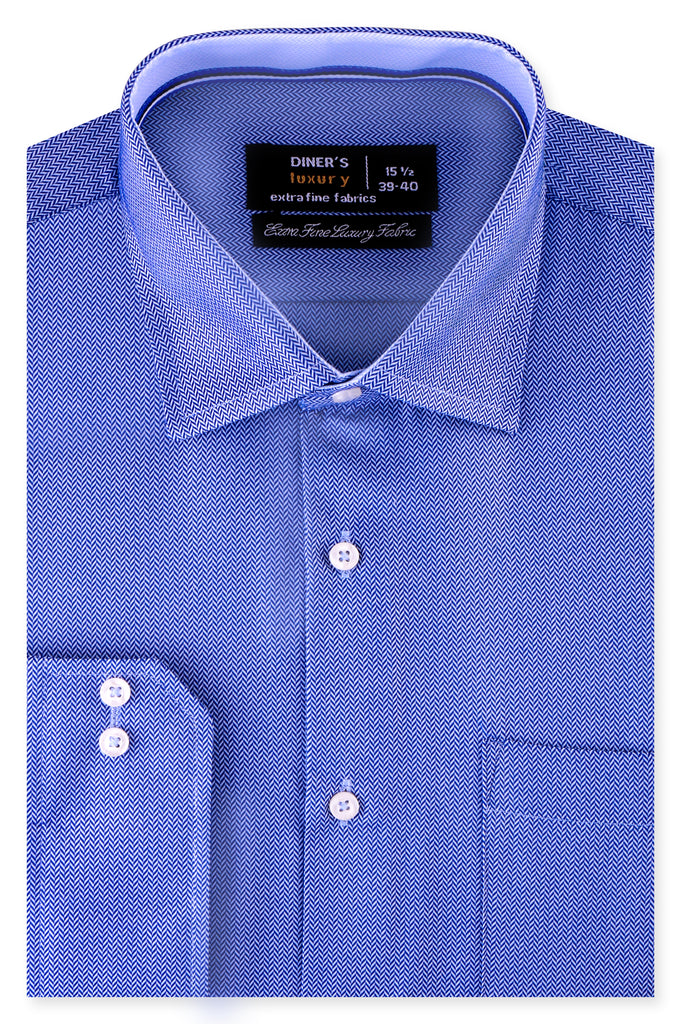 Formal Luxury Shirt SKU: AD20280-D-Blue - Diners