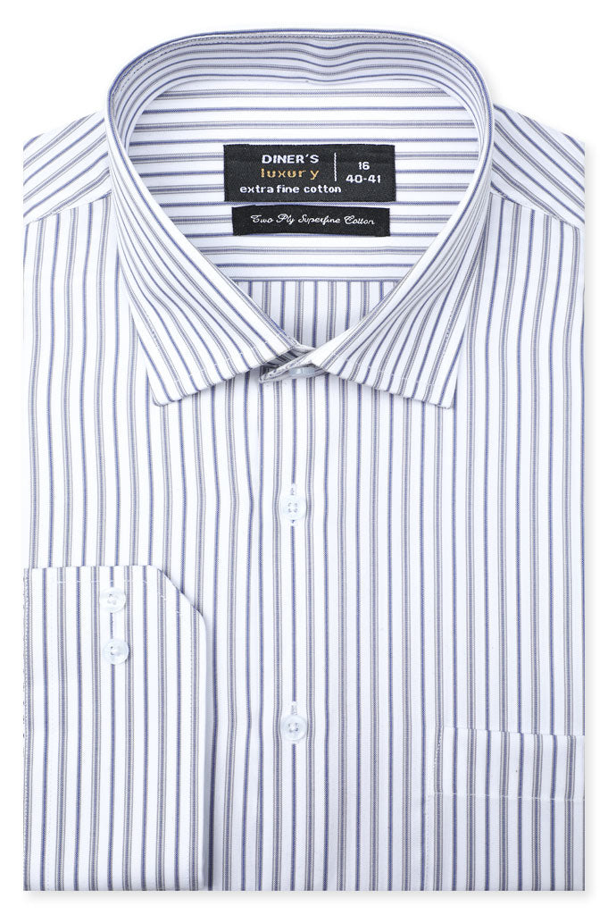 Formal Shirt for Man In White SKU: AD20505-White