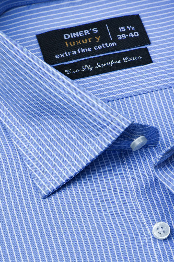 Formal Shirt for Man In L-Blue SKU: AD20516-L-Blue