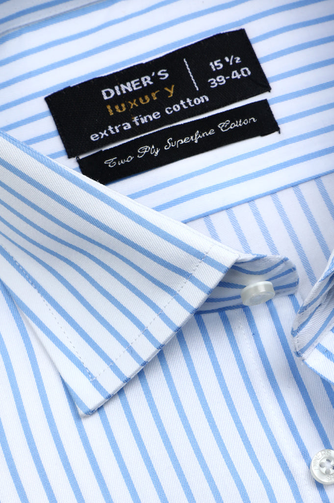 Formal Luxury Shirt SKU: AD20551-SKYBLUE - Diners