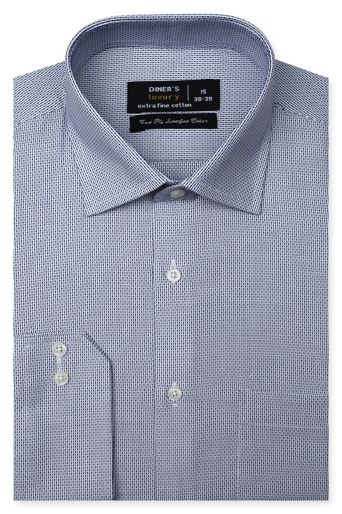 Formal Shirt for Man In Blue SKU: AD20567-Blue - Diners