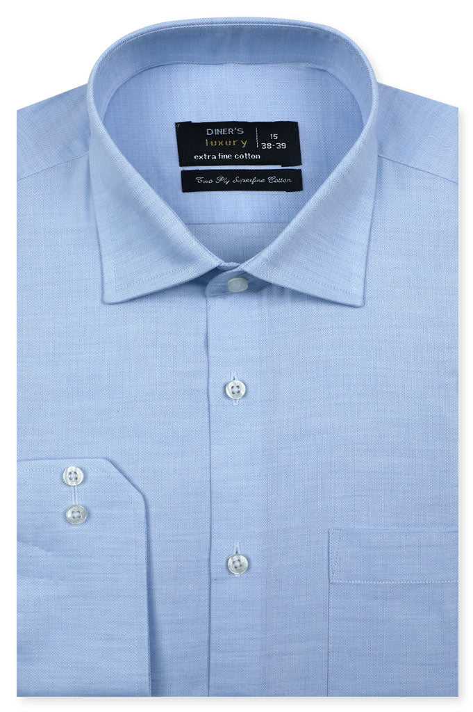Formal Shirt for Man In L-Blue SKU: AD20569