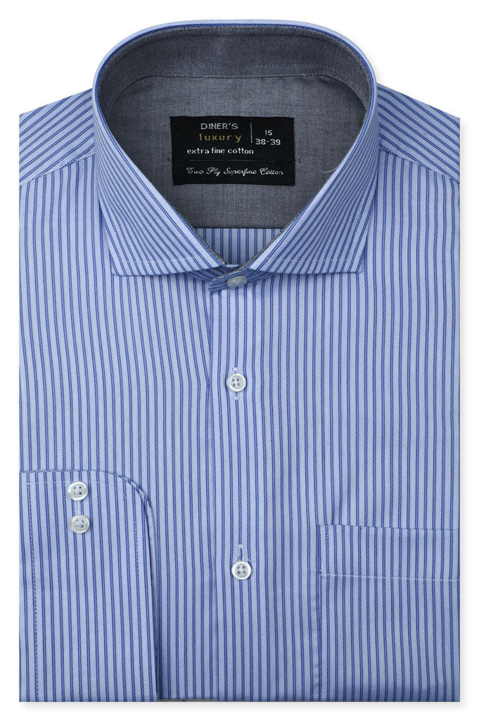Formal Man Shirt SKU: AD21277-Blue - Diners
