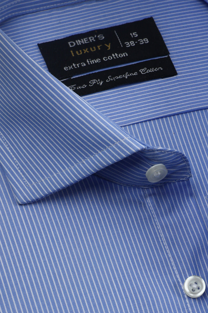 Formal Luxury Shirt SKU: AD21280-SKY BLUE - Diners