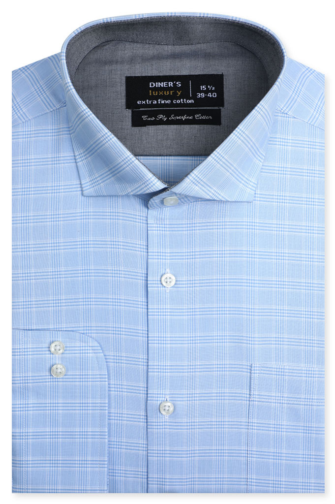 Formal Shirt for Man In SkyBlue SKU: AD21341-SkyBlue - Diners