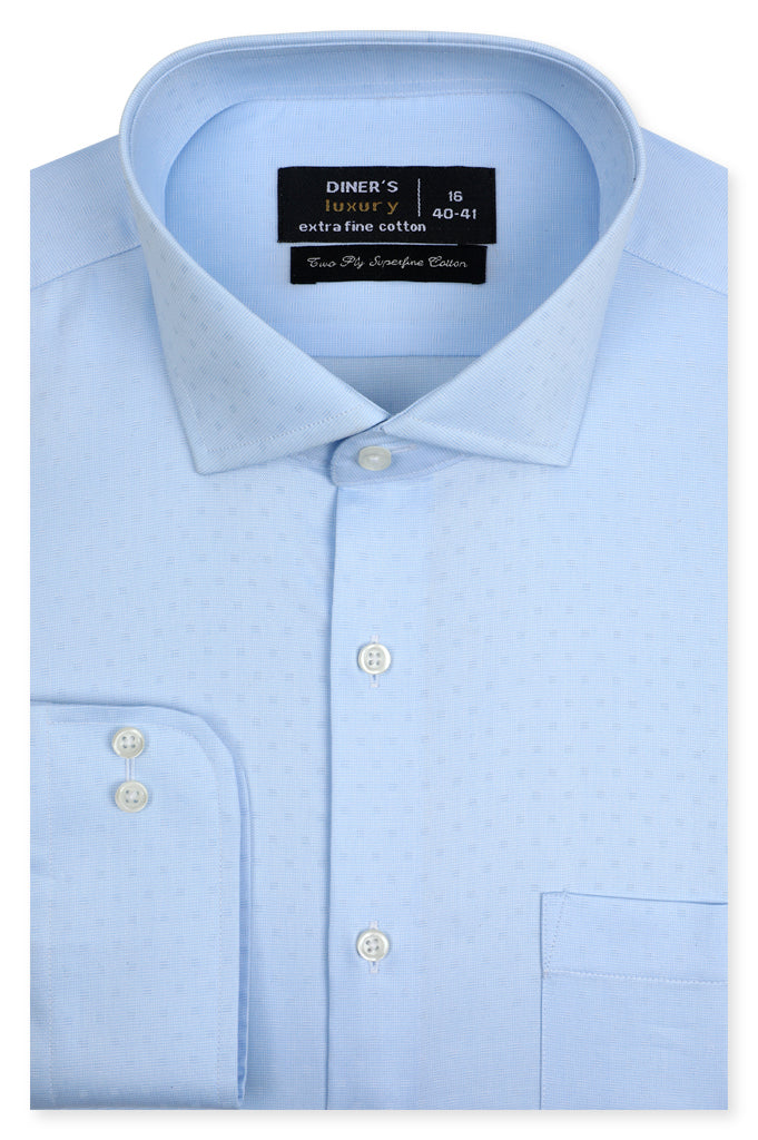 Formal Man Shirt SKU: AD21365-L-BLUE