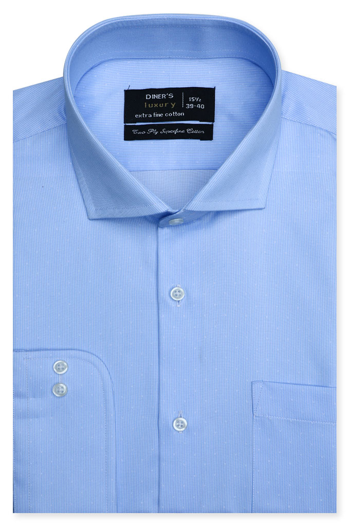 Formal Man Shirt SKU: AD21371-Sky Blue
