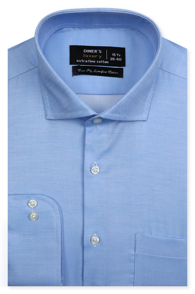 Formal Luxury Shirt SKU: AD21654-SKY BLUE