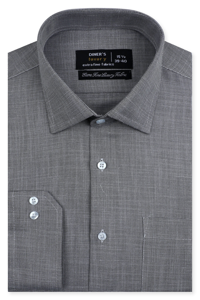 Formal Luxury Shirt SKU: AD23359-D-GREY - Diners