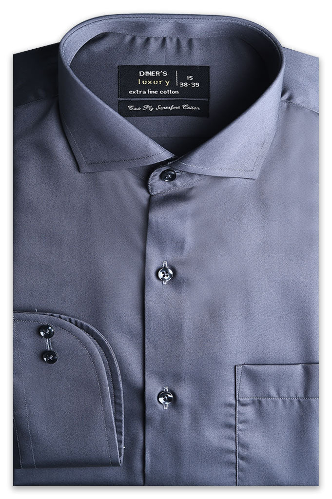 Formal Shirt for Man In Black SKU: AD5074-D-Grey