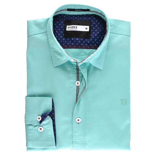Casual Shirt in Green Color SKU: AG18063-GREEN