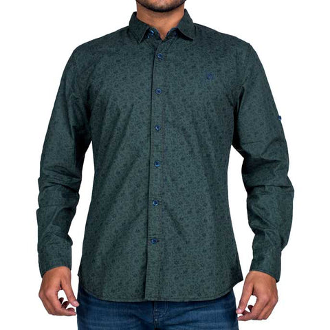 Casual Shirt in D-Green SKU: AG18064-D-Green