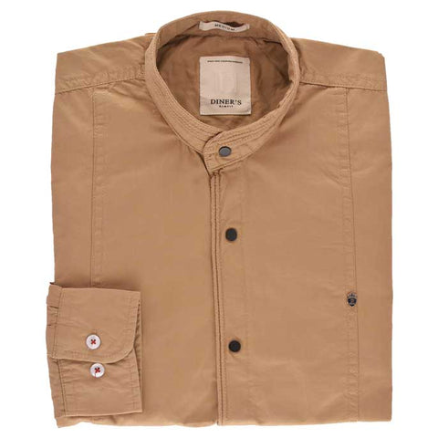 Casual Shirt in Khaki Color SKU: AG18537-KHAKI