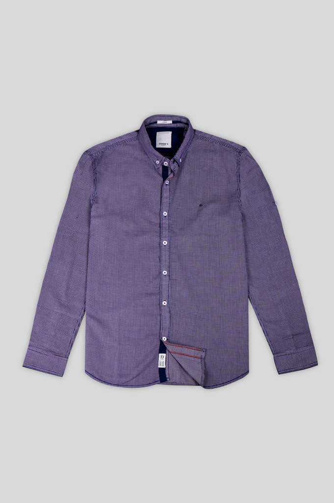 Casual Shirt in Purple SKU: AG18538-PURPLE