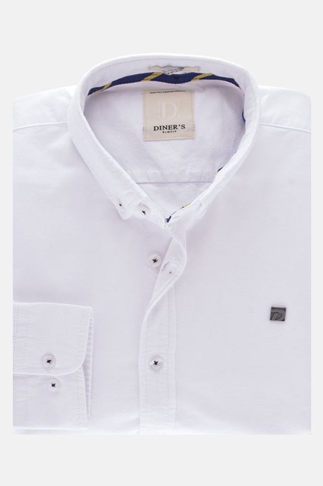 Casual Shirt in White SKU: AG18544-White