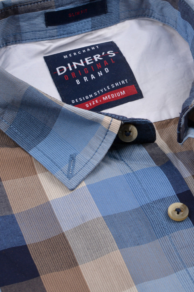 Casual Shirt in Blue SKU: AG20219-Blue - Diners