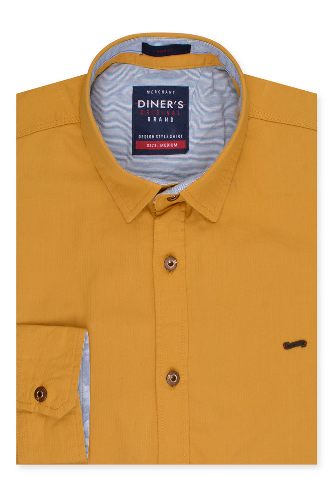 Casual Shirt in Yellow SKU: AG20224-Yellow - Diners