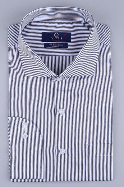 Formal Autograph Shirt in Grey AH19282 (Slim Fit)