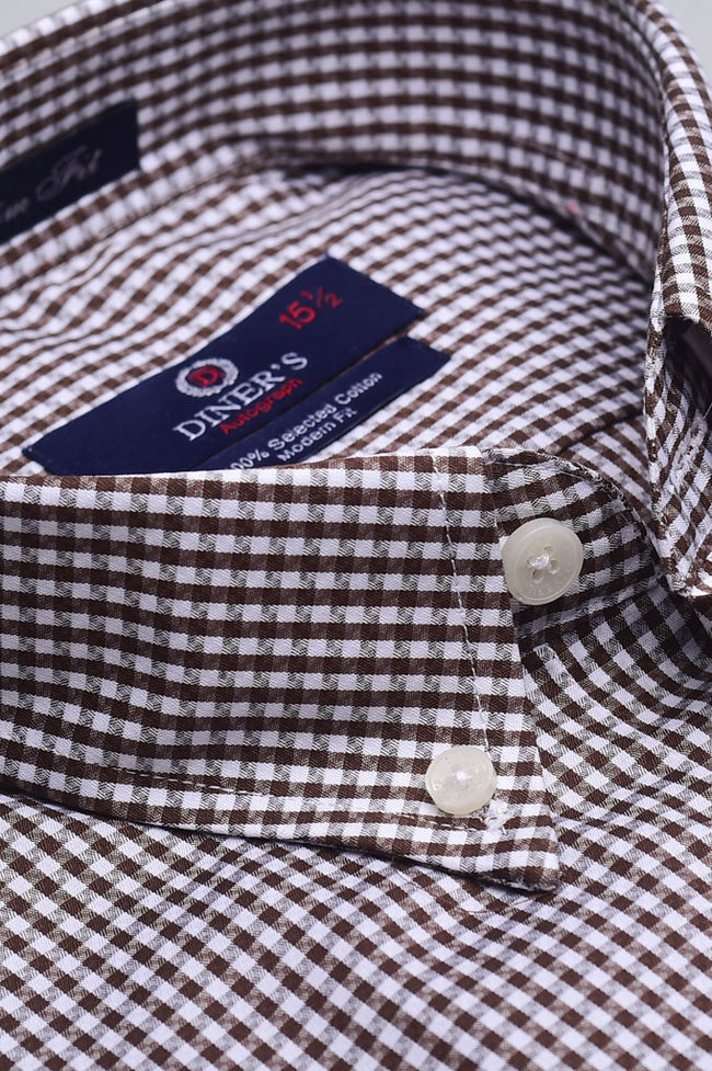 Formal Autograph Shirt SKU: AH19326-Brown