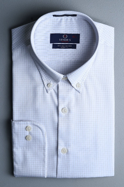 Formal Autograph Shirt in White SKU: AH19327-White
