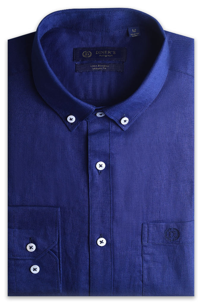 Casual Autograph Shirt in N-Blue AH20003 (Slim Fit)