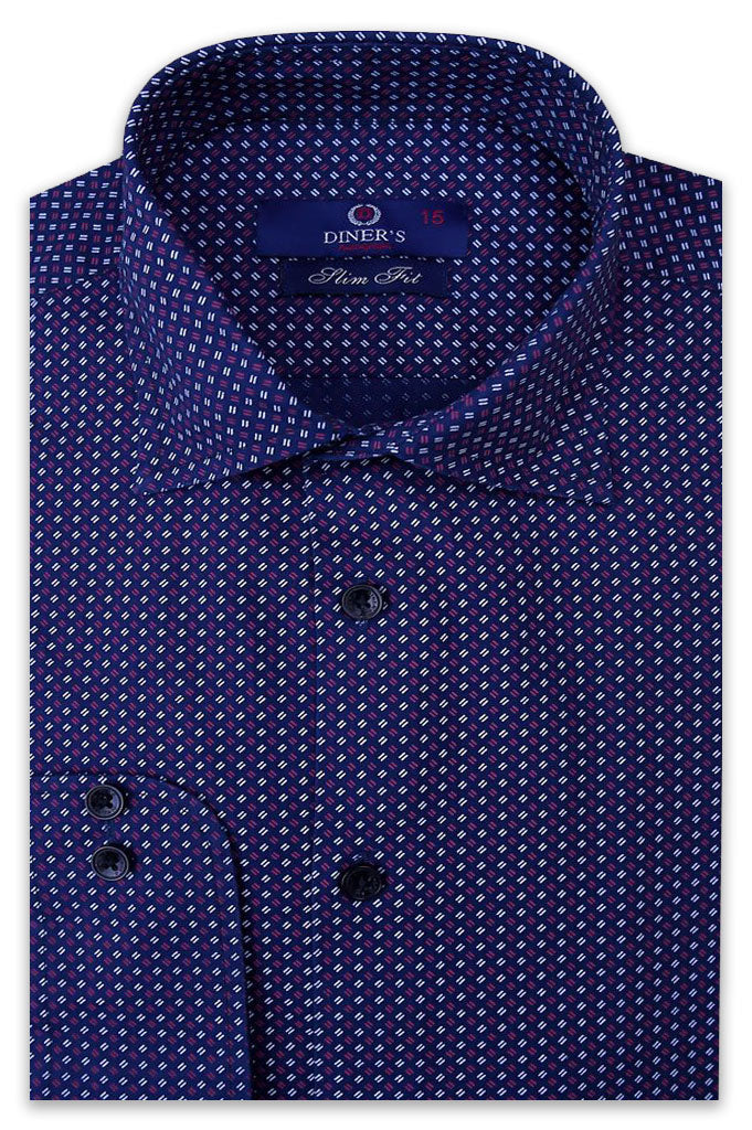 Formal Shirt SKU: AH20128-N-Blue