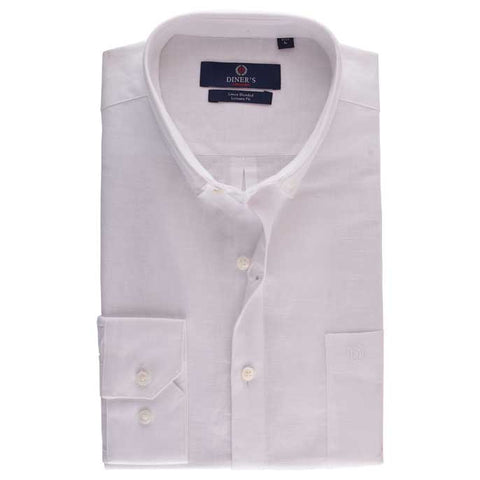 Casual Autograph Shirt in White SKU: AH15722-White