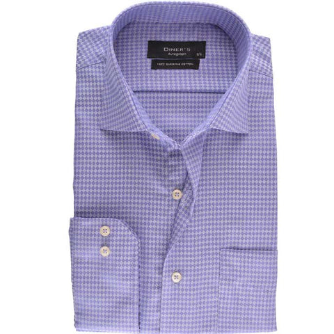 Casual Autograph Shirt in D-Purple SKU: AH15734-D-PURPLE