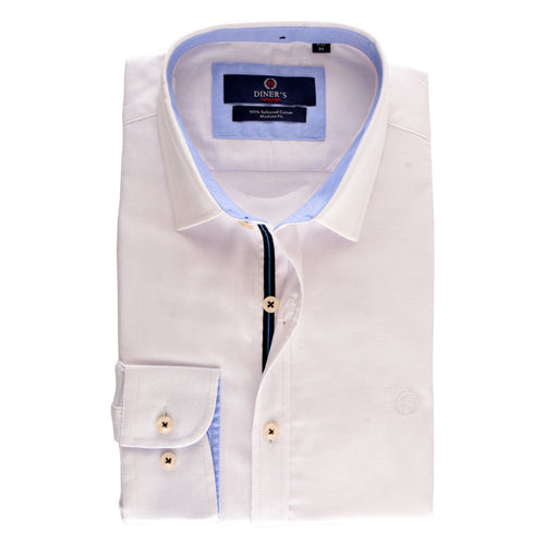 Casual Shirt in WHITE SKU: AH15788-WHITE