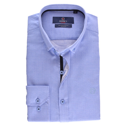 Casual Shirt in Sky Blue SKU: AH15790-SKY-BLUE