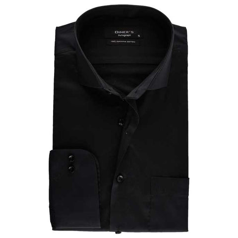 Formal Shirt in Black SKU: AH17604-Black