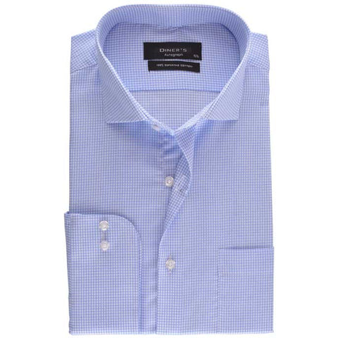 Formal Shirt in Blue SKU: AH18188-BLUE