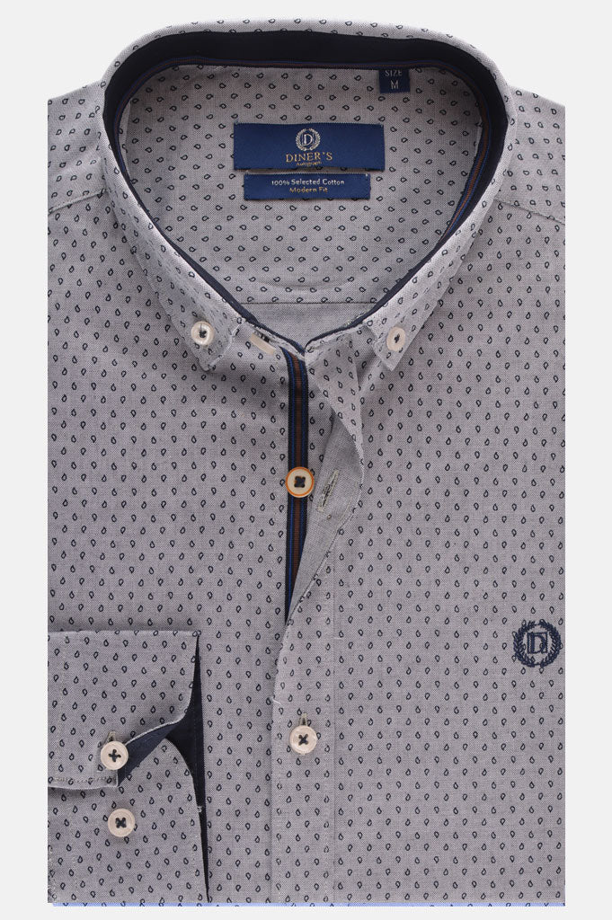 Casual Autograph Shirt in Grey SKU: AH18392-Grey