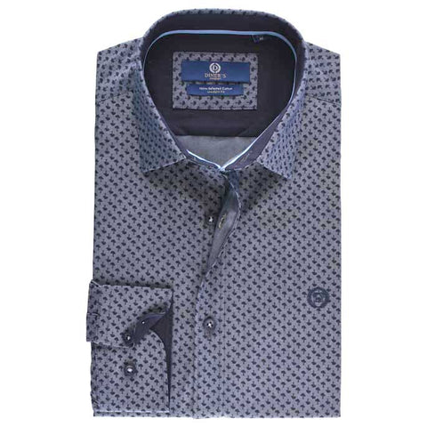 Casual Autograph Shirt in Grey SKU: AH18398-GREY