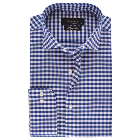 Casual Autograph Shirt in Blue SKU: AH18476-Blue