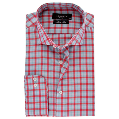 Casual Autograph Shirt in Red SKU: AH18477-Red