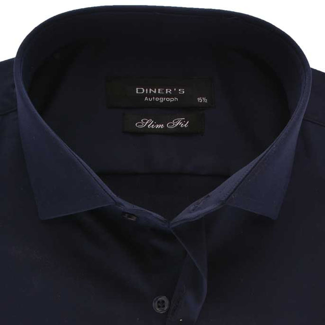 Casual Autograph Shirt in N-Blue SKU: AH18486-N-BLUE
