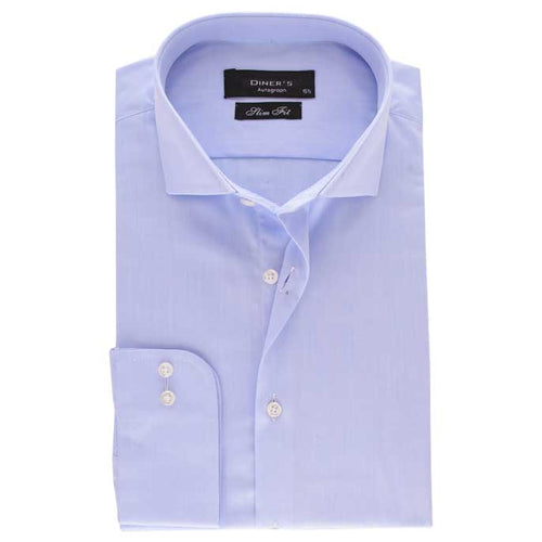 Casual Autograph Shirt in L-Blue SKU: AH18487-L-BLUE