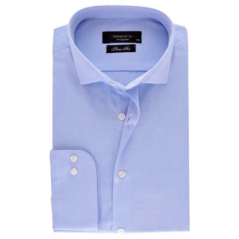 Casual Autograph Shirt in L-Blue SKU: AH18492-L-Blue