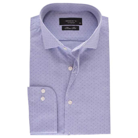 Casual Autograph Shirt in Blue SKU: AH18502-BLUE
